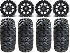 "Fuel Maverick Black 15"" Wheels 30"" Kahuna Tires Yamaha YXZ1000R"