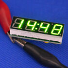 Green LED Displayer DC 12V digital multifunction clock thermometer voltmeter mod