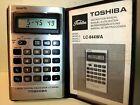 Toshiba LC 844 WA quartz alarm clock calculator vintage retro Japan