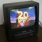 """White 13"""" 14"""" CRT Tube TV & Remote Sharp Linytron Old School Gaming Television"""