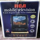 "RCA 9""  TV VCR VHS Combo T09082 Television with Remote & Car Charger"