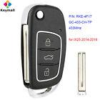for Hyundai IX25 2014-2016 Remote Car Key Fob 433MHz GC-433-CH-TP P/N: RKE-4F17