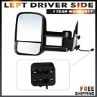 Left For 14-16 Chevy Silverado Gmc Sierra Power Heated Extendable Towing Mirror
