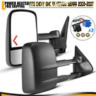 Power Heated Arrow Signals Tow Mirrors For 03-06 Chevy Silverado 1500 2500 3500