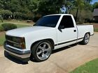 "1993 Chevrolet C/K Pickup 1500 Silverado 1993 CHEVROLET C1500 Silverado RESTORED 88k mile White Gray with 20"" Americans"