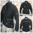Textile Insulated Touring Black Motorcycle Jacket Mens Size Large Motosport
