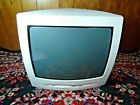 """VINTAGE PHILLIPS COLOR CRT 13"""" TELEVISION TV TESTED CLEAN STEREO COLOR REMOTE"""