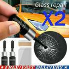 2x Automotive Glass Nano Repair Fluid - Car Window Glass Crack Chip Repair Tool