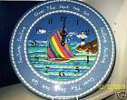 """Sailboat Battery Operated  Clock by Ormsby Blue   16""""  Over The Sea We Go   NEW"""
