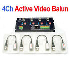4 Channel Active Video Balun Adapter BNC to Cat5/6 UTP Cable for CCTV Camera DVR