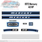 1972 Mercury 40 HP Kiekhaefer Outboard Reproduction 12 Pc. Vinyl Decals 400