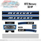 1972 Mercury 50 HP Kiekhaefer Outboard Reproduction 13 Piece Vinyl Decals 500
