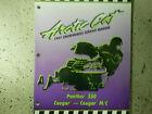 1997 Arctic Cat Panther 550 Cougar & MC Service Repair Shop Manual FACTORY OEM