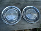 "Pair of 70's CADILLAC 15"" HUBCAPS HUB CAPS"