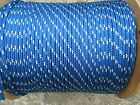 """1/2"""" X 50' Halyard sail line,anchor rope polyester double braid 8500 USA ,Blue"""