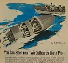 Twin Outboard Steering System 1957 HowTo build PLANS