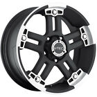 17x8.5 Black V-Tec Warlord 5x5 +25 Rims Federal Couragia MT 285/70/17 Tires