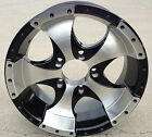 "(4) 14"" Aluminum Ion Black Wheel/Rim 5 on 4.5 (RV, Boat, Custom Trailer Wheels)"