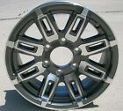 "4) NEW 16"" Aluminum Type T06 Gray Trailer Wheels / Rims 6 Lug on 5.5"" Sendel"