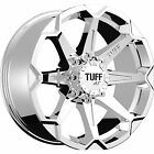 17x9 Chrome Tuff T05 5x4.5 & 5x5 +10 Rims Nitto Mud Grappler 37X13.5X17 Tires