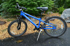 "HARO FLIGHTLINE MOUNTAIN BIKE  20"" BLUE CUSTOM TUBING 6061 ALUMINUM"