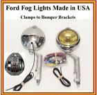 Ford Fog Lights Made in USA Ford Logo 12 volt w/ Brackets