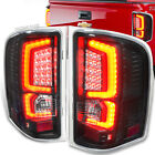 Silverado 07-13 V8 Black Housing Red C-Streak LED Tube Rear Tail Lights Lamps