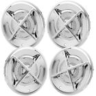 CROSS BAR  HUB CAPS 15 INCH SET OF 4 LOW RIDER BOMBS CUSTOMS CARS AND TRUCKS