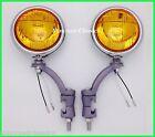 """12 Volt Amber 5"""" Fog Lights with Painted Bumper Brackets  H3 - Packard"""