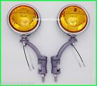 """12 Volt Amber 5"""" Fog Lights with Painted Bumper Brackets  H3 - Cadillac"""