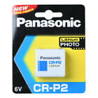 Panasonic CR-P2 6V Lithium Battery 1PACK (10PCS) Powerful Single Use Batteries