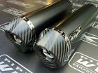 Honda VTR 1000 SP1 Pair of Black Oval, Carbon Outlet Exhaust Cans,Road Legal