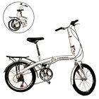 "New 20"" Folding Bike 6 Speed Bicycle Fold Storage School Sports Shimano Parts"