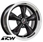 """(4) 17x8"""" inch Bullitt Replica Black Wheels Rims 5x4.50"""" fit Ford Mustang 65-73"""