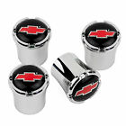 Chevrolet BOWTIE Logo Tire Valve Stem Caps USA Made Quality - RED