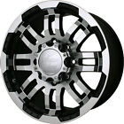 18x8.5 Black Vision Warrior  6x5.5 +25 Wheels Open Country AT II LT285/65R18