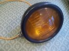 Vintage Black 6V FOG LIGHT with AMBER LENS #KD775, RARE and IT WORKS !