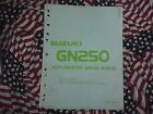 1988 Suzuki Motorcycle GN250 Service Shop Repair Manual Supplement OEM 88 NICE x