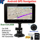 "Portable 7"" Wifi Dual Core Android 4.4 GPS Navigation Car DVR PC Free Map 8GB TF"