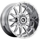 20x9 Chrome LRG 103 6x5.5 & 6x135 +18 Wheels LT295/60R20 Tires