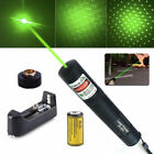 532nm Green Laser Pointer 10Miles 1mw Lazer Pen Beam Light + Battery*Charger USA