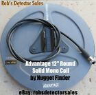 Nugget Finder 12-inch Advantage Round Solid Mono Searchcoil for Minelab Detector