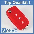 Red Silicone 3 Button Volkswagen Flip key Golf Passat Bora Beetle Fox VW