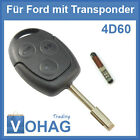 Ford Key Blank & Transponder 3 Button Fiesta Focus Fusion Mondeo 3T Puma