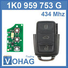 Volkswagen Golf 5 Flip key Top 434 mhz 1K0 959 753 G Transmitter