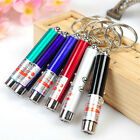 1X Mini Ultraviolet Money Detector Red Laser Pointer Pen LED Flashlight Keychain