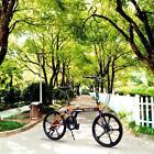 Folding Bike 20in 7 Speeds Bike Fold Storage College School Black + Orange F0BZ