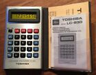 Vintage Toshiba LC-830 Calculator 1978 Yellow LCD - Works
