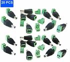 20PCS 2.1 x 5.5mm Male Jack Plug Connector for 12V DC Power Adapter CCTV Camera