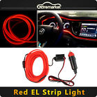 Car 1M RED LED Cold EL Light Panel Gap Neon Lamp Strip Decor Atmosphere 12V SUV